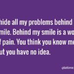 Hiding Sadness With A Smile Quotes Pinterest