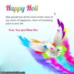 Holi Wishes Images With Name Facebook