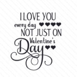 I Love You Everyday Not Just On Valentine's Day