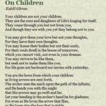 Khalil Gibran Quotes On Children Pinterest