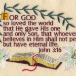 Machine Embroidery Religious Sayings Facebook