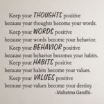 Mahatma Gandhi Quotes Keep Your Thoughts Positive Facebook