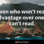 Mark Twain Reading Quote