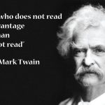 Mark Twain Reading Quote Twitter