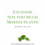 Michael Pollan Quote Eat Food Not Too Much Pinterest