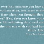 Mitch Albom For One More Day Quotes Facebook