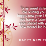 New Year Wishes For Sister Pinterest