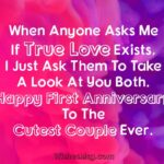 One Year Marriage Anniversary Wishes
