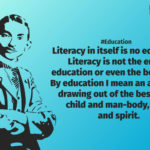 Quotes On Literacy By Mahatma Gandhi Twitter