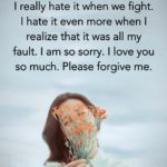 Romantic Apology Message For Him Facebook
