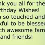 Saying Thanks For Birthday Wishes Pinterest