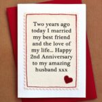 Second Wedding Anniversary Wishes For Husband
