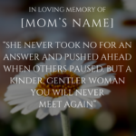 Short Memorial Quotes For Mom Twitter