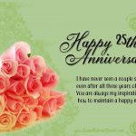 Silver Jubilee Wedding Anniversary Wishes Tumblr