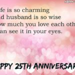 Silver Wedding Anniversary Quotes Facebook