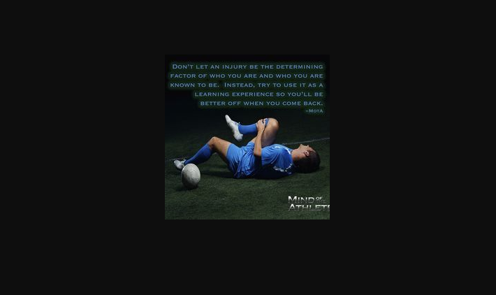Soccer Injury Quotes Pinterest