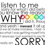 Sorry Quote About Love