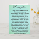 Special Message For Daughter