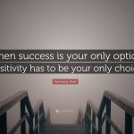 Success Is The Only Option Quote Pinterest