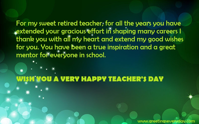 Teachers Day Long Sweet Message Facebook