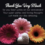 Thank You Message For Wedding Anniversary Facebook
