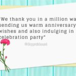 Thank You Message For Wedding Anniversary Wishes Facebook