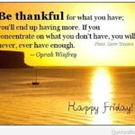 Thankful Friday Quotes