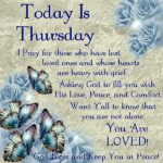 Thursday Inspirational Blessings Facebook