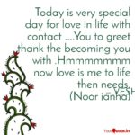 Today Is A Very Special Day Quotes Facebook