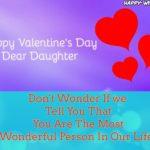 Valentine's Day Message To Daughter Twitter