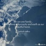 We Are One Family Quotes Facebook
