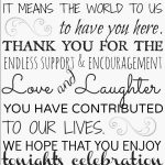 Wedding Thank You Quotes For Family Facebook
