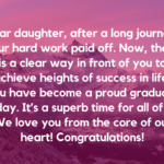 Wishes For Graduation For Daughter Pinterest